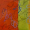 'Badberg-Zyclus, Berlin'  grafiet, oliepastel,aquarel/papier