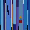 'Rhapsodie in blue' acryl/doek