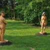 'Nude Male and Female' hout