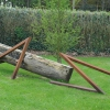'Ankerplaats' ijzer hout