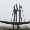 'scène de bateau'  bronze - fer