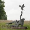 'Lazy statue of liberty'  acier galvanisé sur bois