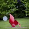 'Rotes Horn'   corten staal - lak - steen - ijzer